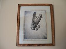 1931 J. Mac Gilchrist Signed Etching Hell Diver Curtis Hawk Y-P-20 Aviation Art