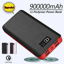900000mAh Portable Power Bank External Battery Pack 4 USB Charger for Cell Phone