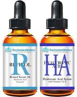HYALURONIC ACID + RETINOL - Anti-Aging Wrinkle Fine Line Gel-Cream-Serum 2-Pack