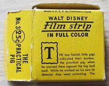 WALT DISNEY FILM STRIP in Full Color 1937 - N.3 THE PRACTICAL PIG - RARISSIMO*