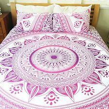 Magical Night Pink Mandala Duvet Cover with Set of 2 Pillows - Lucinda