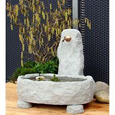 Schöpfbrunnen rustikal klein Granitwerkstein mit Kupferauslauf, 128 kg