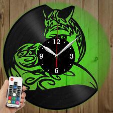 LED Vinyl Clock Fox LED Wall Art Decor Clock Original Gift 5365