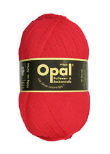 Opal Sockenwolle Uni 4-fach 100g Strumpfwolle wolle rot