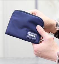 PORTER JAM HOME MADE L-shaped zipper Bi-fold wallet Nylon navy