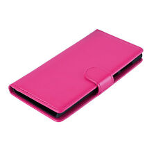 Magnetic plain Book Wallet Case Cover Flip PU Leather For Various Models