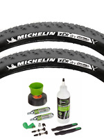 """Michelin XCR Dry Tubeless Tyre With Tubeless Tyre Kit - 26"""" x 2.00 - Slate Grey"""