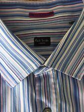 Paul Smith Blue Multi Stripe Cotton Gents Formal Shirt Size 16 41 Mint (A03)