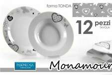 SERVIZIO PIATTI TAVOLA TONDO PORCELLANA MONAMOUR 12 PEZZI ELI-684302