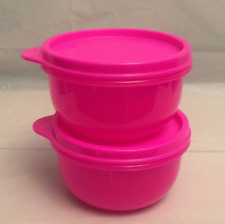 Tupperware Ideal Bowls / Snack Cups for Kids Set of Two BPA-Free Neon Pink New