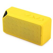Mini Speaker X3 YELLOW Built-in mic Wireless Bluetooth 2.0 * sent from Europe