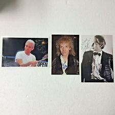 (2)  CHARLIE WATTS & (1) PETER FRAMPTON AUTOGRAPHED PHOTOS PC449A