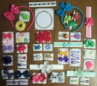 HAIR ACCESSORIES AND ONE DOLL NECKLACE  FOR AMERICAN GIRL DOLLS- LARGE LOT A