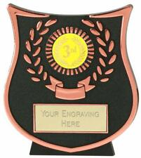Emblems-Gifts Curve Bronze 3rd Plaque Trophy With Free Engraving
