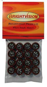 16 Brightvision Redline Wheels Medium Size Hong Kong Bearing Style Bright Chrome