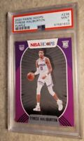 2020-21 PANINI NBA HOOPS PURPLE  #238 TYRESE HALLIBURTON ROOKIE PSA 9💎💲📈