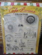Card Paper Craft Card Making Silicone Rubber Ink Stamps - Cafe Riviera  Stamps