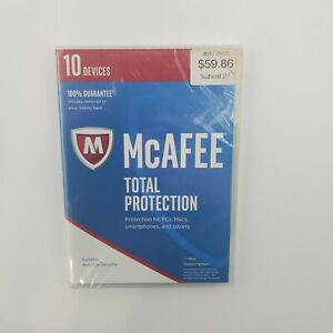 McAFEE Total Protection 10 DEVICES 1 Year Full Version Anti-virus Security