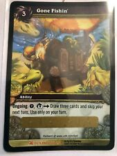 WOW TCG - Gone Fishing unscratched Loot Card