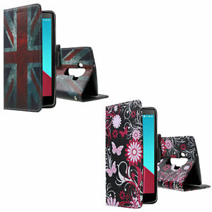 Premium PU Leather with Stand Pattern Design Wallet Case Cover for LG G4