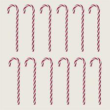 Christmas Tree Decoration 12 Pack Twisted Candy Canes 18cm