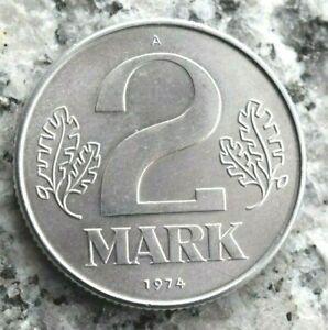 2 Mark 1974 A Kursmünze DDR in Aluminium - Erhaltung !
