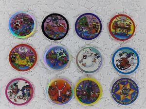 Tazos Pogs Christmas Limited Edition Waddingtons 1-12 Milkcaps