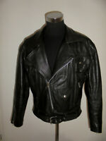 vintage Motorradjacke Lederjacke 80s bikerjacke oldschool 80er brando jacket XXL