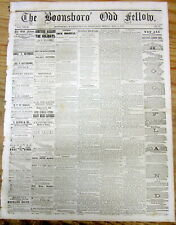 18690 newspaper COMPLETION of the TRANSCONTINENTAL RAILROAD  GOLDEN SPIKE driven
