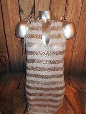 Victorias Secret   Sexy BEACH Swim Cover Up Dress GOLD WHITE  NWT SM