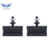 2pcs Axa 1 Quick Change 250 101 Tool Post Turning Amp Facing Holder