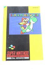 Super Mario World Manual Super Nintendo SNSP-MW-UKV