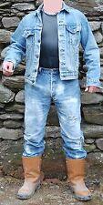 Levis Denim CAMIONISTA/Cowboy GIACCA RED TAB Jeans Stile 42R Pietra Lavato
