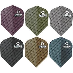 Harrows Carbon Dart Flights Tough Standard Solid Plain Colours 1-10 Sets Strong