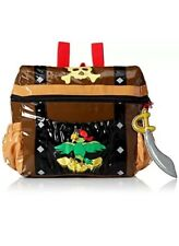 Kiddorable Pirate Backpack Brown treasure Chest One Size Toddler