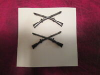 Infantry Badges showing Crossed Rifles subdued black USA Made SPECIAL
