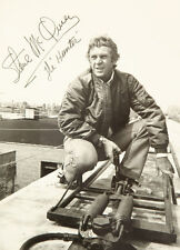 SIGNED VINTAGE STEVE McQUEEN IN THE HUNTER MOVIE POSTER PRINT 36x26