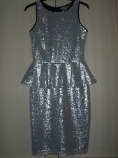 NEW LIPSY Silver Sequin Occasion Dress UK 8 or 12 Available