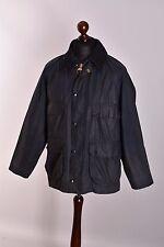 Men's Barbour Bedale Dark Blue Jacket Size C40 / 102cm Genuine Casual Waxed