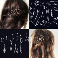 Rhinestone Letter Hairpin Words Barrette Crystal Headwear Bobby Pin Hair Jewelry