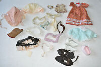 Lot of Vintage Doll Clothes Shoes Accessories