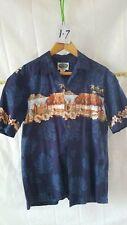 Vintage Men's Hawaiian Hawaiian Islands Brand M 100% Cotton Button Down Shirt