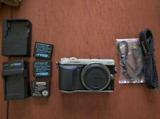 Panasonic LUMIX DMC-GX7 16.0MP Digital Camera - Silver (Body Only), 3 batteries