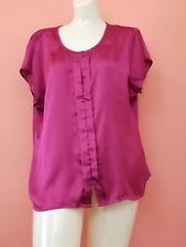 Covington Petite Blouse size XLP, pink, cap sleeve