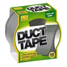 151 Adhesives Silver Duct Tape Strong & RELIABLE 48mm X 10m