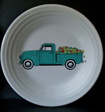 "RETIRED Fiesta SPRING FARM TRUCK Turquoise 9"" Luncheon plate NEW w/ STICKER"