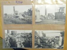 (4) REAL PICTURE OLD POSTCARDS - RPPC INDUSTRIAL ACCIDENT CHIMNEYS