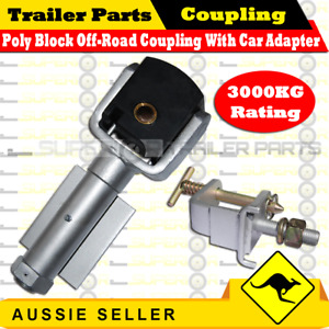 Superior Poly Block Off-Road Coupling - Weld On Type - With Car Adapter - 3000kg