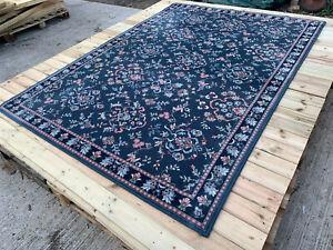 Huge blue pink & green patterned rug lot UE220321A