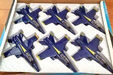 "Set of 6 diecast  9"" model F/A-18 Hornet US Navy Blue Angels fighter jet NEW"